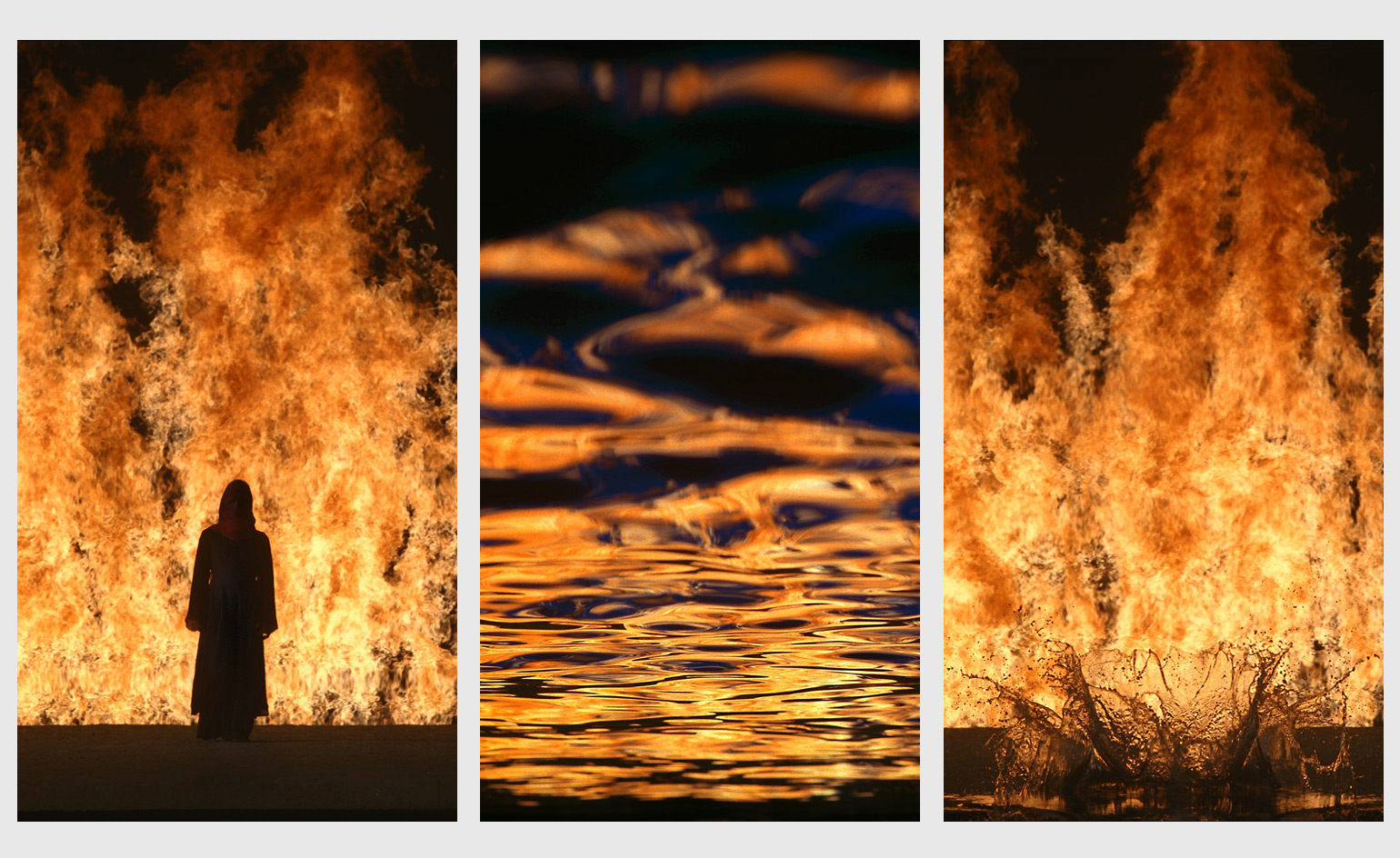 "Bill Viola, ""Stills from Fire Woman"", Guggenheim Bilbao, 2005."