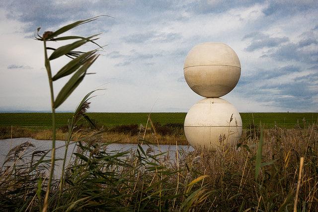 Michael Beutler Land art in Wilhelminapolder
